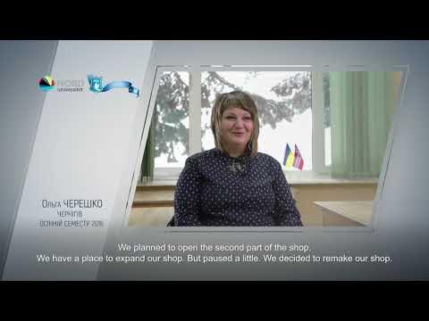Video feedback of Olga Chereshko, graduate of the Ukraine-Norway project