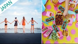 GIRLS AT A BEACH IN JAPAN
