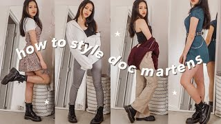 How To Style Doc Martens! ✩ Platform Jadon Dr Martens | 10 Outfit Ideas & Lookbook