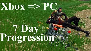 Xbox To PC - 7 Days of Progression - Fortnite Battle Royale