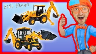 Learn to count 1 to 10 with Backhoes   Number Rhymes for Children  - Blippi
