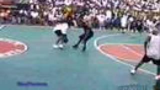 Girl baller breaks some guys ankles!