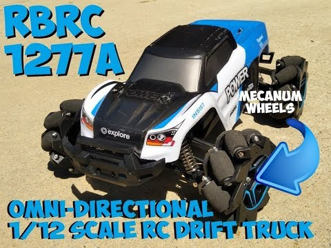 Awesome RC Drift Truck with Mecanum Wheels & 4 Motors - Video Below