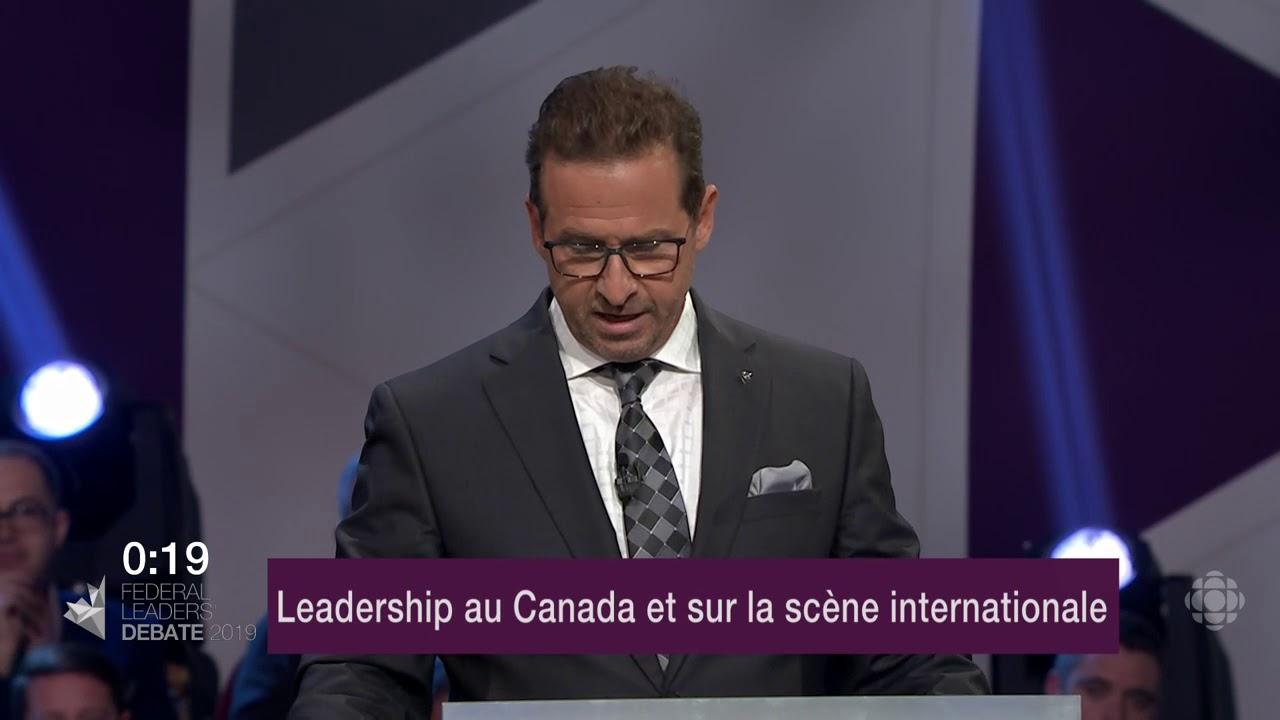 Yves-François Blanchet répond à la question d'un citoyen sur les relations avec les provinces