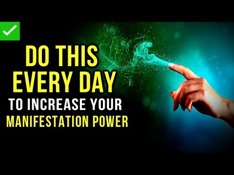 Every Time You Do THIS, You INCREASE Your MANIFESTATION POWER! (Law Of Attraction | The Secret)