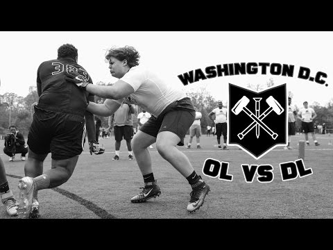 Nike Football's The Opening Washington D.C. 2017 | OL vs DL 1 on 1s