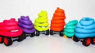 Видео про машинки Учим цвета с Вспыш и чудо машинки Плей До Мультики про машинки для детей