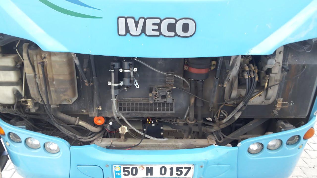 Özel halk otobüsü Hidrojen Yakıt tasarruf Sistem montajı.