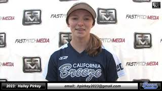 2023 Hailey Pirkey 4.29 GPA - Left Handed Hitter, Outfield, 1st Base & Pitcher Softball Skills Video
