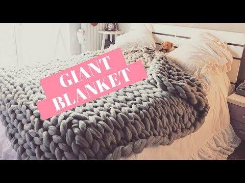 DIY Giant Blanket    Coperta gigante 100% Lana merino 🌙✨