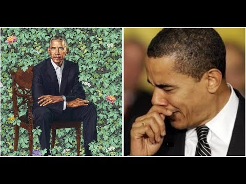 OBAMA CONNED BY PORTRAIT PAINTER! SMITHSONIAN ABOUT TO RIP PAINTING OFF THE WALL!