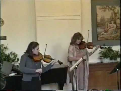 High school student with me, performing a duet.