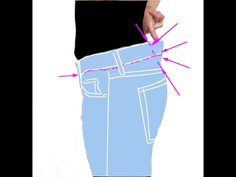 Jeans in die Taille enger nähen. DIY Anleitung. How to Downsize Jeans