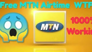 Free😱 MTN airtime 1000% working!  Like&Share
