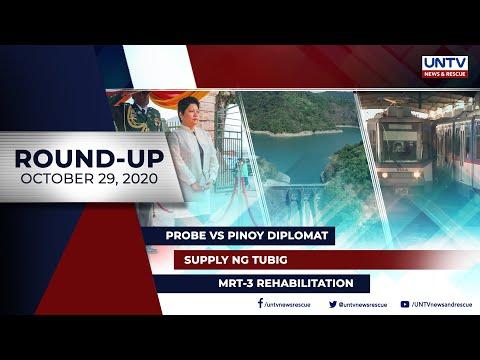 [UNTV]  UNTV NEWS ROUNDUP: Mga balitang dapat mong malaman (October 29, 2020)