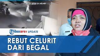 VIDEO Kronologi Aksi Driver Ojol Wanita Lawan Begal di Bekasi hingga Bisa Rebut Celurit Milik Pelaku