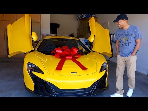 surprising husband with dream car the mclaren