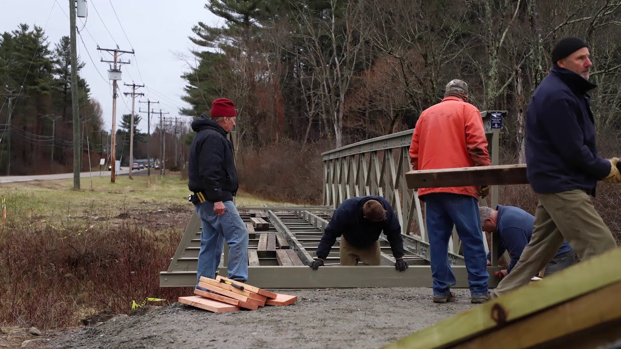 Watch the Butternut Bridge Construction from Fall 2020. The same amazing volunteer effort will be put into the boardwalk!