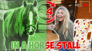 24 HOUR CHALLENGE OVERNIGHT IN A HORSE STALL *24 Hour Challenge*
