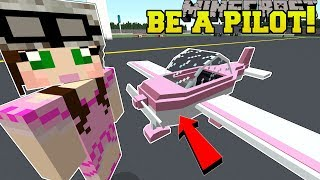 Minecraft: WE BECOME PILOTS!! - PILOT TRAINING SCHOOL - Custom Map