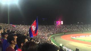 Cambodia National Anthem by amazing Fans, 2018 FIFA WC Russia 2018,Cambodian vs Japan