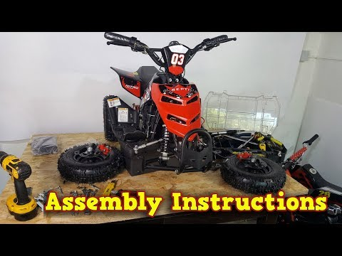 Repti Electric Quad 800W 36V - Unboxing - Full Assembly - Instructions