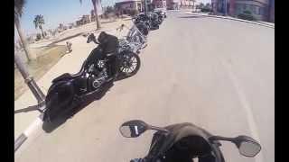 preview picture of video 'Harley division & suzuki gsx-r750 ride in khobar city دراجات نارية هارلي وسوزوكي ٧٥٠ في الخبر'