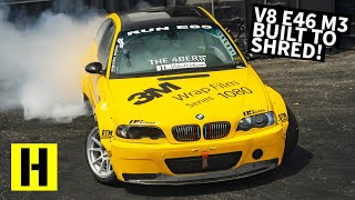 Is this BMW M3 Too Clean to Drift? Widebody V8 Swapped E46 Thrashes the Yard