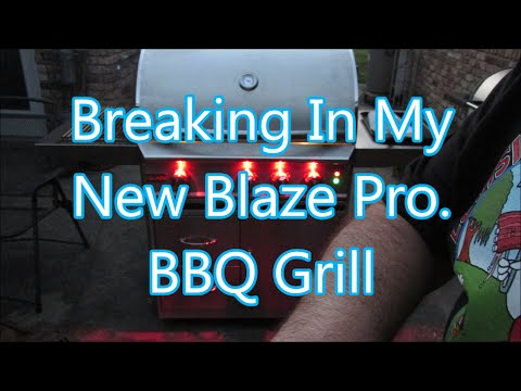 Grilled burgers and steaks on my Blaze Professional BBQ Grill