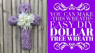 Dollar Tree Easter Crafts / DIY Easter Wreath / How To Make A Wreath