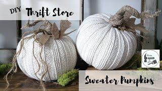 Thrift Store/Dollar Tree Sweater Pumpkins