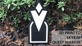 3D Printed Skyrim Quest Marker