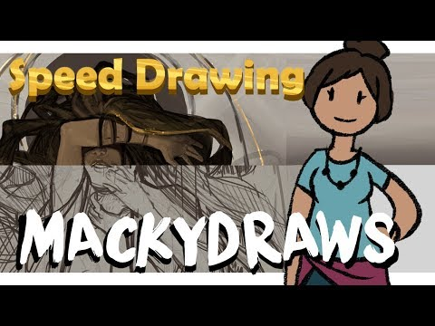 Speed Drawing: Tarantula Sparkle Lady?!? | Mackydraws