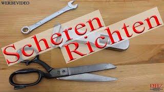 Schere Messer Schleifen Polieren und Richten