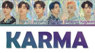 [Color Coded Lyrics] GOT7   Karma [KanjiRomEng]
