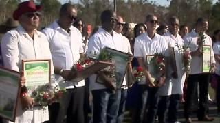 preview picture of video 'Recibieron en Cienfuegos a brigada médica que combatió el ébola en los países de África Occidental'