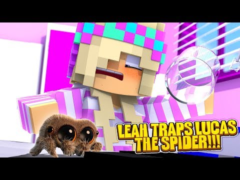 Minecraft LEAH CAPTURES LUCAS THE SPIDER!!!