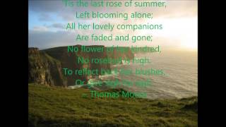 'Tis the Last Rose of Summer (Lyrics)