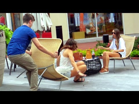 Chair Pulling Double Prank