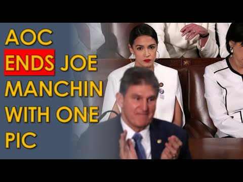 AOC ENDS Joe Manchin with ONE Picture on Twitter after he attacks progressives