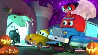 HALLOWEEN SPECIAL ! The Funfair Monster - Carl the Super Truck in Car City   Children Cartoons