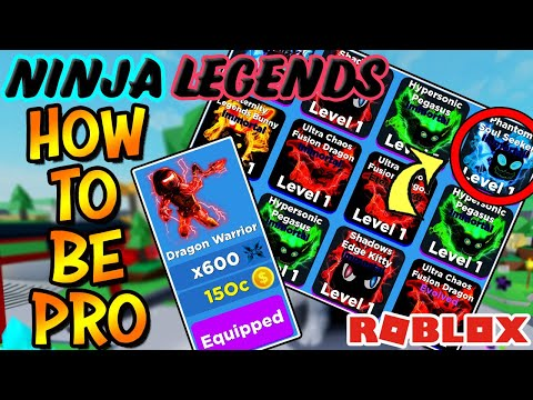 HOW TO PLAY NINJA LEGENDS AND BECOME PRO (Roblox) - Rank Up Fast!
