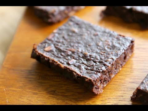 Video Chocolate Brownie For Weight Loss / Fat Loss - Oil Free, Healthy & Low Calorie - Skinny Recipes