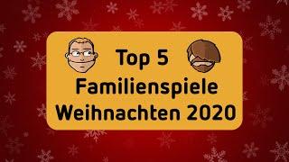 Top 5 Familienspiele - Brettspiele - Geschenktipps zu Weihnachten 2020