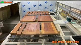 MÁY SƠN CNC 2 Bàn Nạp Phôi Liên Tục Woodmaster