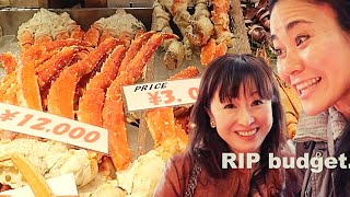 OSAKA : EXPENSIVE JAPANESE STREET FOOD at Kuromon Market ft. Yuka Nomura