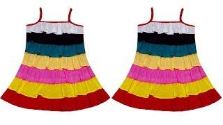 DIY- 1 Year Girls Baby Birthday Special Dress Cutting And Stitching Full Tutorial