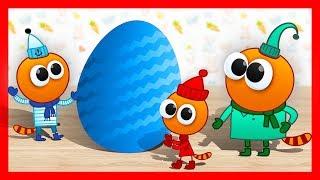 СЮРПРИЗЫ и игрушки - ТРИ КОТА. Открываем Яйца Сюрприз - собираем коллекцию игрушек.