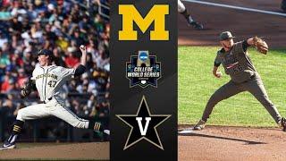 Michigan vs #2 Vanderbilt 2019 CWS Final Game 1   College Baseball Highlights
