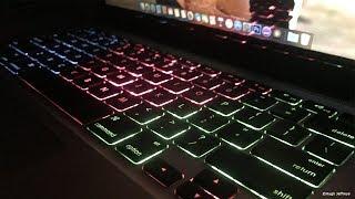 Creating a Custom Coloured MacBook Pro Backlit Keyboard